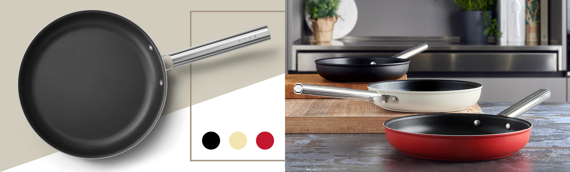 Cooking in color with the Smeg cookware line